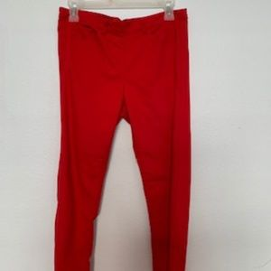 SKINNY Pants Back Zipper, Color Red